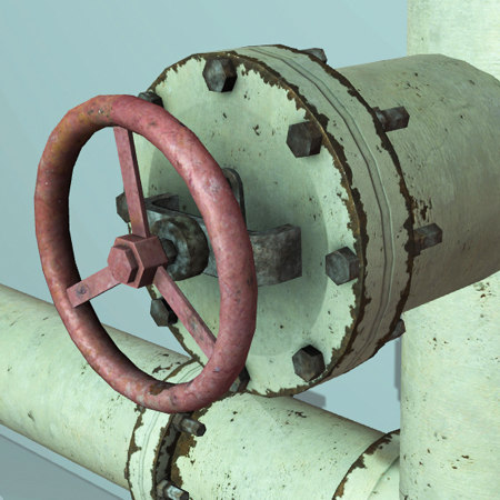 3d model pipe set industrial real time